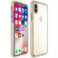 Speck Presidio Clear Glitter Impactium Case for Iphone Xs/x - Gold