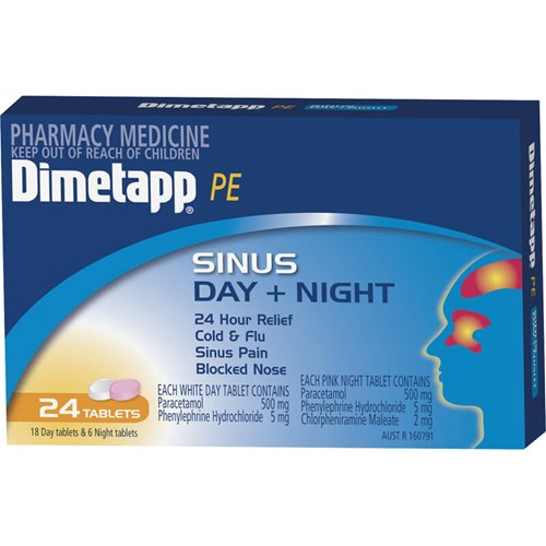 Relief from the symptoms of sinus headache, sinus