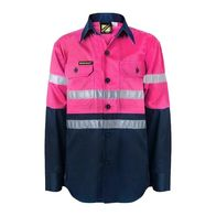 Kids' 3m Taped Hi Vis Long Sleeve Shirt