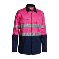 Bisley 3m Taped Hi Vis Lightweight Long Sleeve Shirt