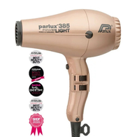 Parlux 385 Powerlight Ionic Ceramic Dryer 2150W - Light Gold