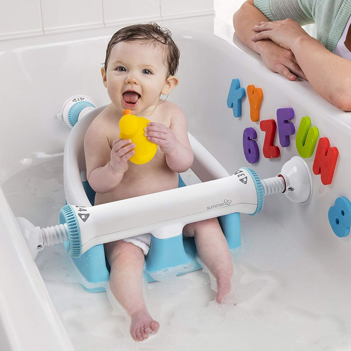 Baby bath aids allow support of your baby