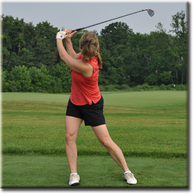 Golf tip: When driving, don't over swing!