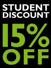Take advantage of Student discounts