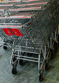 Maneuvering Shopping Carts In Parking Lots