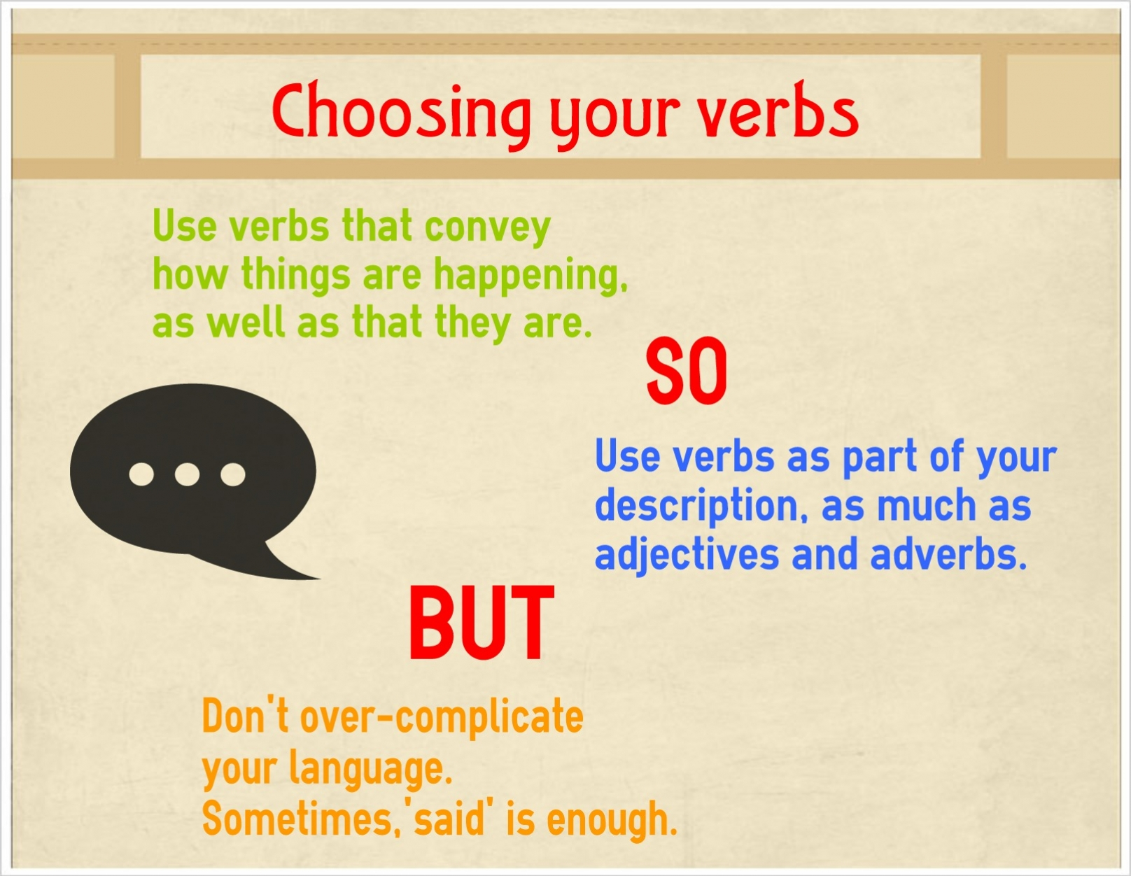 Choosing Your Verbs