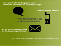 What should you do if you are being Bullied Online