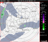 Helpful Website/App for Peterborough: Use Radar to forecast short-term weather