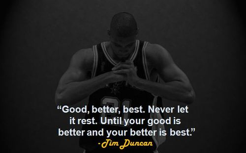 A great quote Tim Duncan got from his