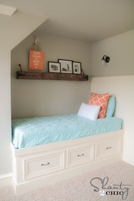 DIY Built-In Storage Bed
