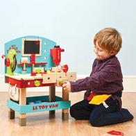Kids Wooden Tool Benches and Boxes
