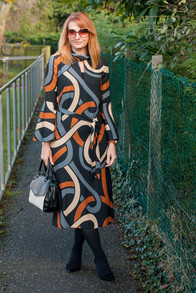 Mature lady midi dress