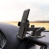 Iottie Easy One Touch 4 Wireless Fast Charge Car Mount for Iphone Xs/x/8/8 Plus/ Galaxy Qi Device